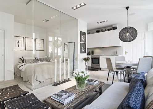 Стеклянные перегородки в квартире (60 фото)