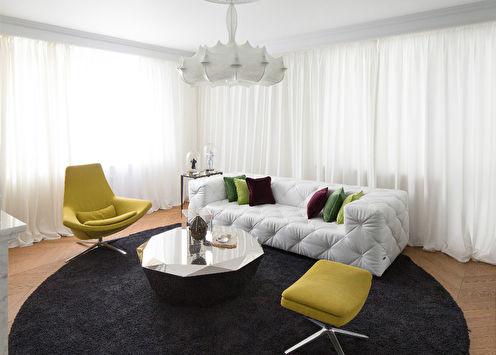 Алиса в Зазеркалье: Дизайн гостиной, Киев