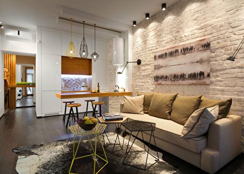 Дизайн-проект квартиры «Нотки Лофта»