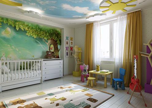 Яркая детская комната «Солнечное детство»