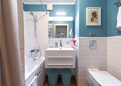 Дизайн ванной комнаты в хрущевке (70 фото)