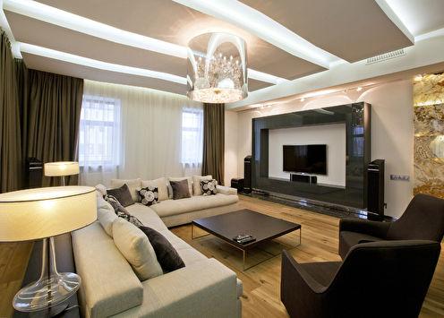 Дизайн гостиной, КП «Миллениум Парк»