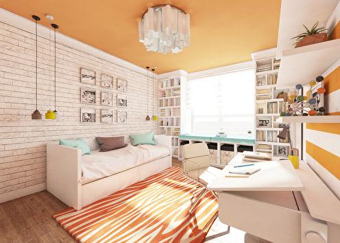 «Оранжевое небо»: Детская комната 20 м2