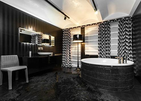 «Черная комната»: Интерьер ванной