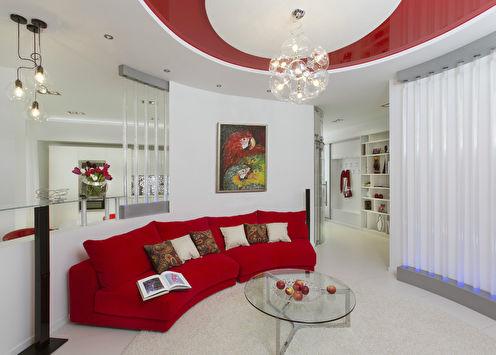 Интерьер квартиры студийного типа, 74 м2