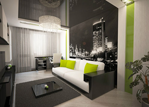 «Мужской минимализм»: Однокомнатная квартира 37 м2