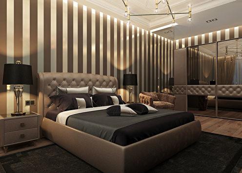 Интерьер спальни «Черный бриллиант»