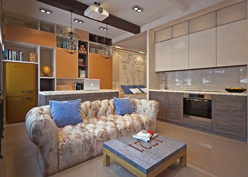 Однокомнатная квартира 35 м2, Москва
