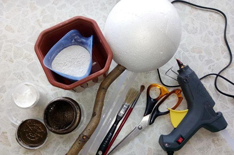 Топиарий из кофе своими руками - Инструменты и материалы