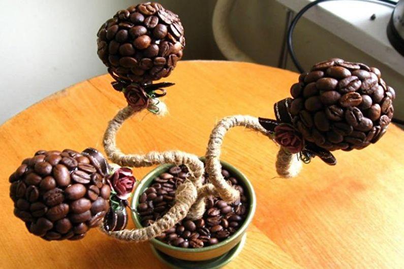 Идеи для топиария из кофе - Двойной и тройной