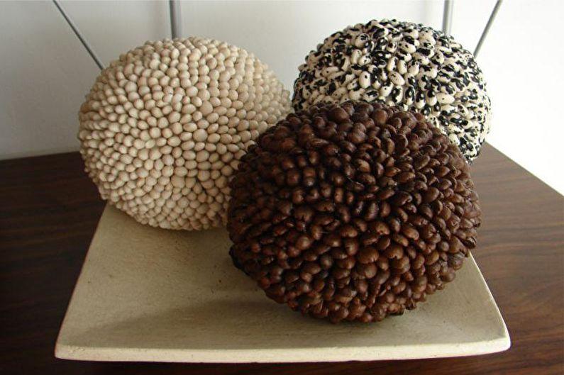 Идеи для топиария из кофе - Шар