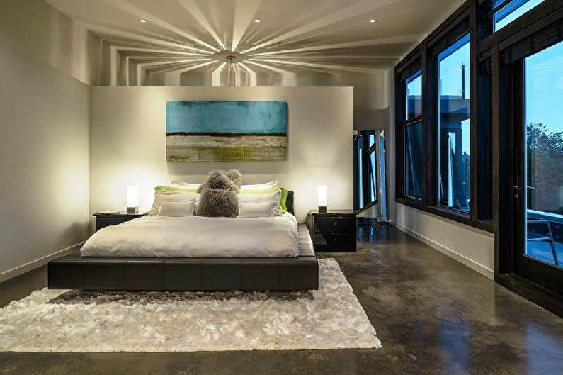 Наливные 3D-полы в спальне