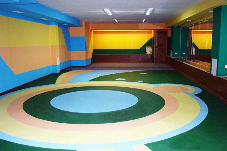Наливные 3D-полы в детской комнате