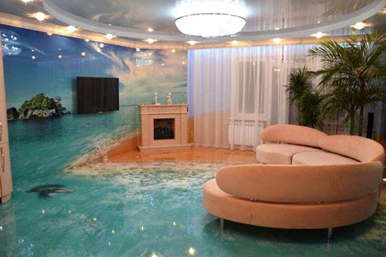 Наливные 3D-полы - фото