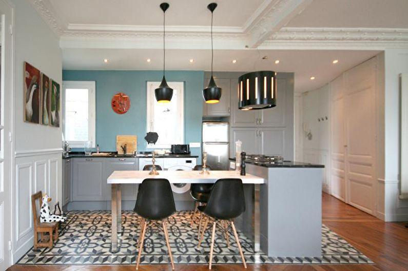 Красивые кухни фото - Новая кухня со старинными деталями