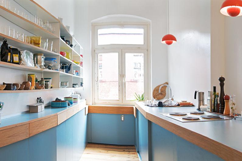 Красивые кухни фото - «Камбуз» в старом доме