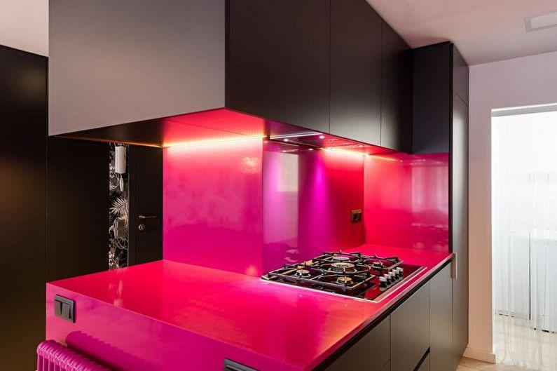 Красивые кухни фото - Модулируемая кухня в ярких цветах