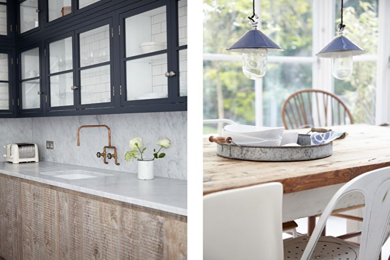 Красивые кухни фото - Кухня-столовая в Лондоне