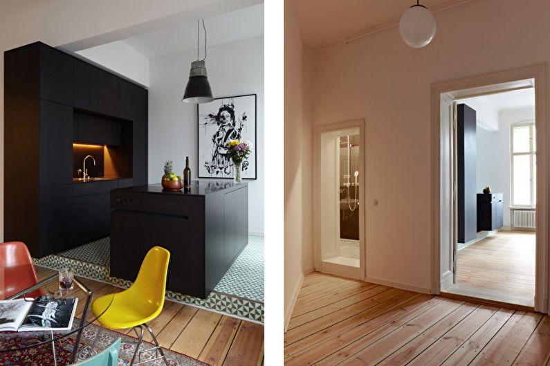 Красивые кухни фото - Матовая черная кухня
