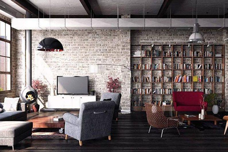 Дизайн интерьера в стиле лофт - Особенности