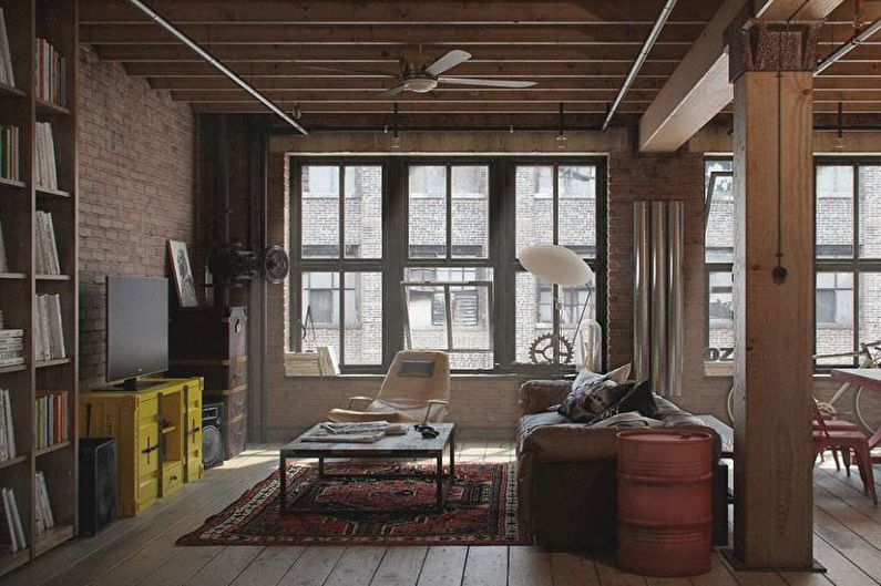 Дизайн интерьера в стиле лофт - Мебель