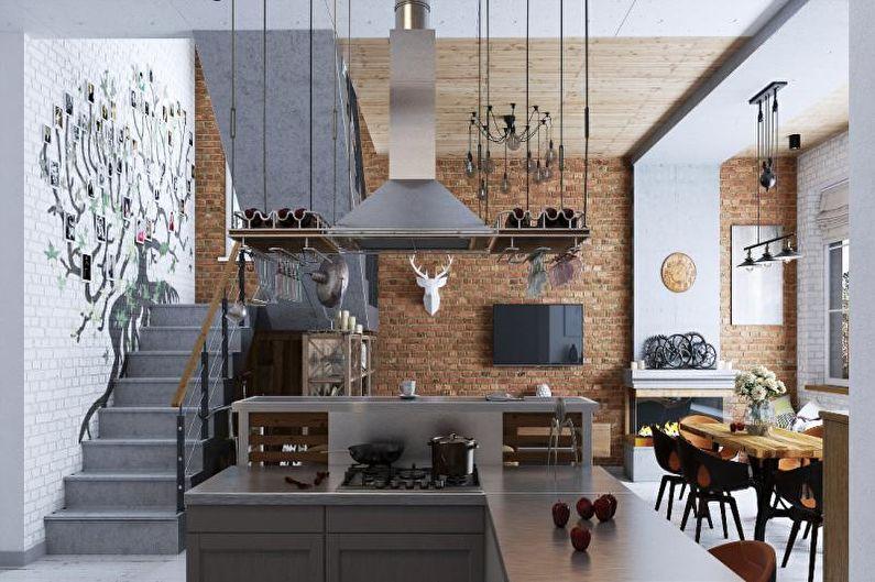 Дизайн интерьера в стиле лофт - Текстиль, декор и освещение