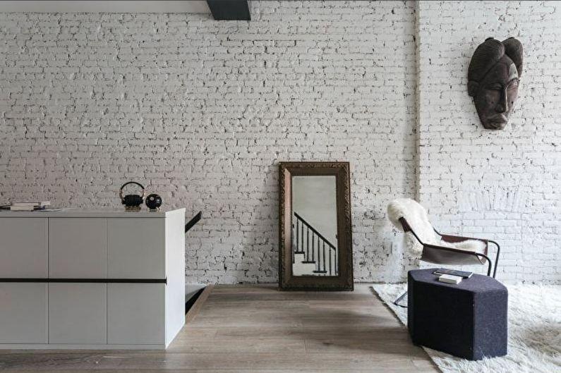 Дизайн интерьера в стиле лофт - Отделка стен