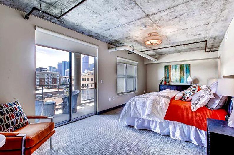 Дизайн интерьера в стиле лофт - Отделка потолка