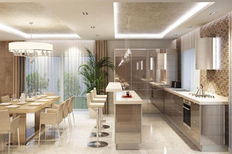 Дизайн кухни-столовой - Особенности