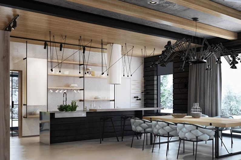 Кухня-столовая в современном стиле - Дизайн интерьера