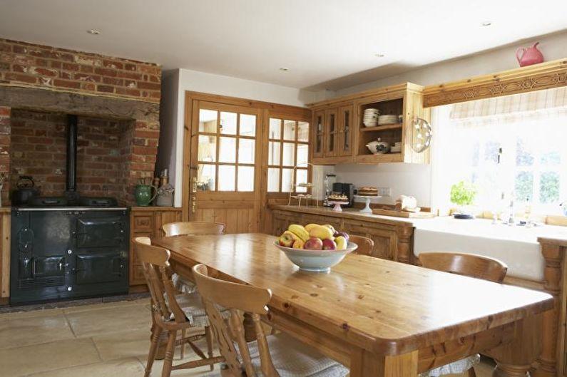 Кухня-столовая в стиле кантри - Дизайн интерьера