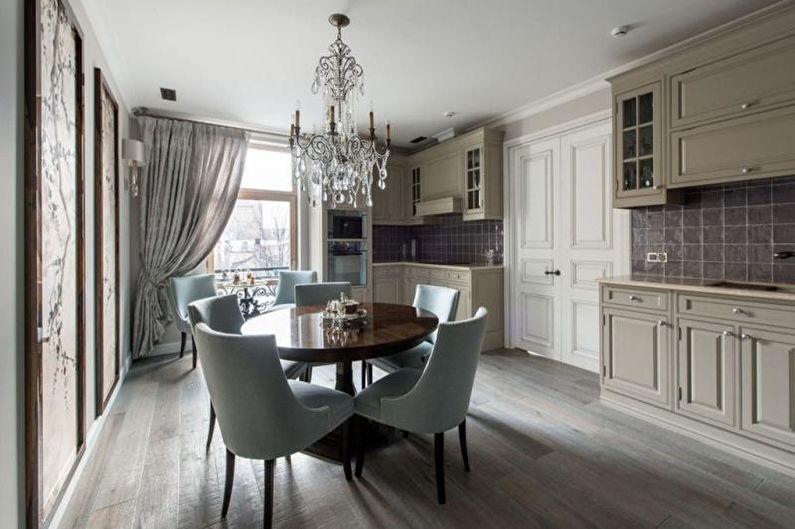 Кухня-столовая в стиле эклектика - Дизайн интерьера