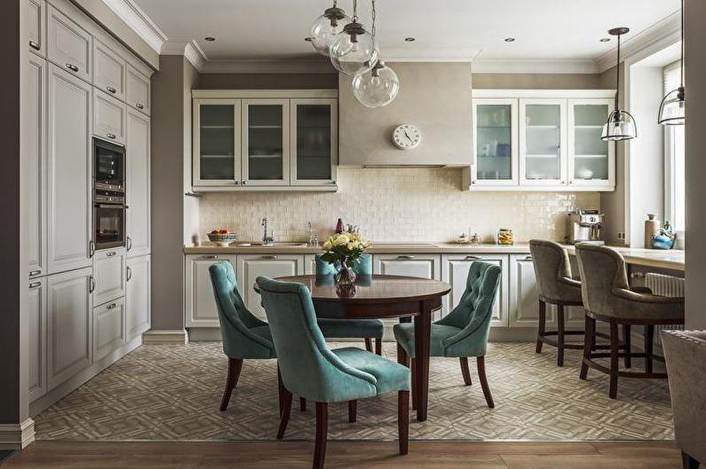 Дизайн интерьера кухни-столовой - фото