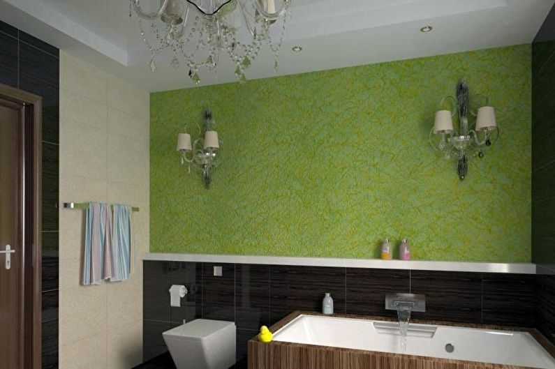 Дизайн совмещенного санузла - Отделка стен