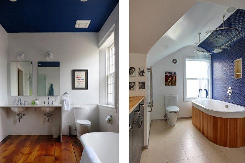 Дизайн совмещенного санузла - Отделка потолка