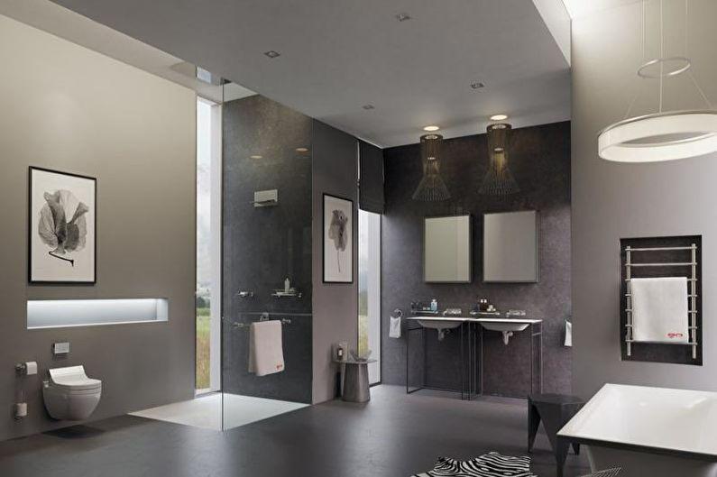 Совмещенный санузел в стиле хай-тек - Дизайн интерьера
