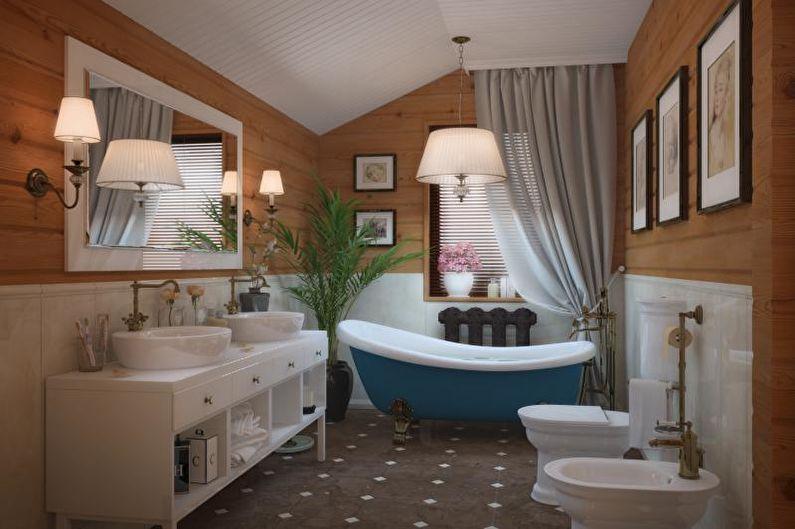 Совмещенный санузел в стиле прованс - Дизайн интерьера