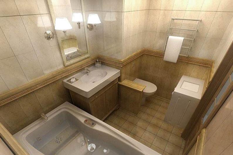 Дизайн интерьера совмещенного санузла - фото