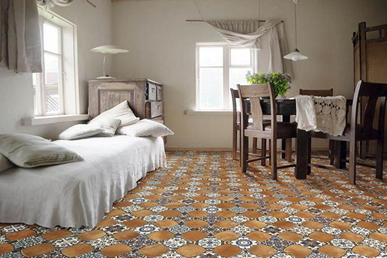 Дизайн интерьера в средиземноморском стиле - Отделка пола