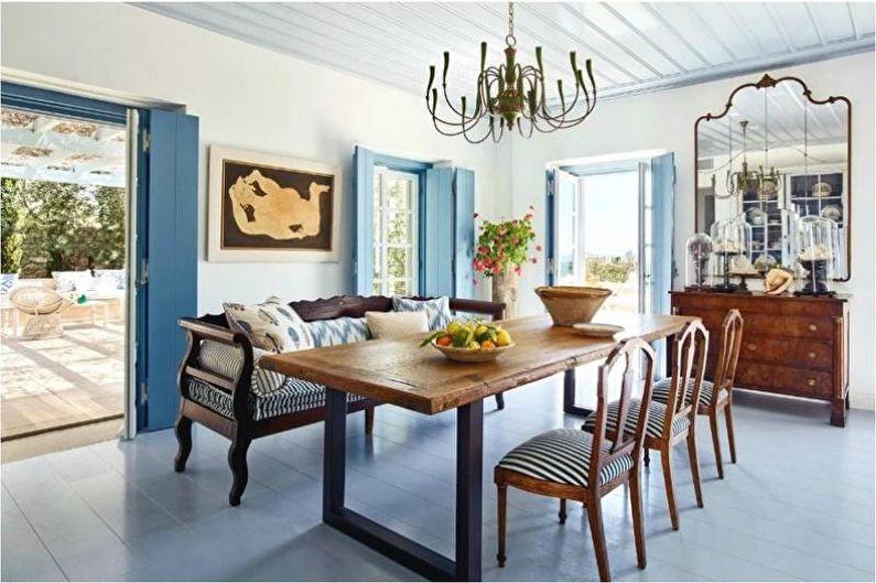 Дизайн интерьера в средиземноморском стиле - Мебель