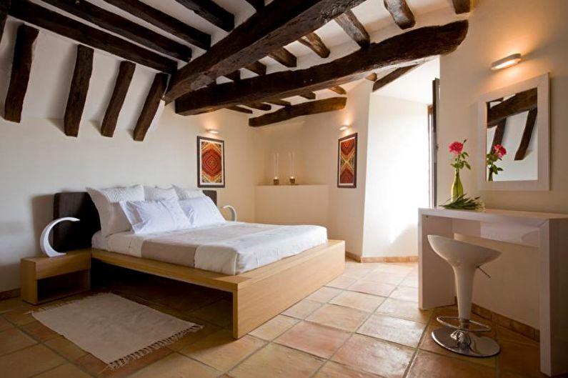 Дизайн интерьера спальни в средиземноморском стиле - фото