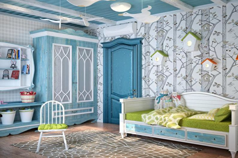 Дизайн интерьера детской комнаты в средиземноморском стиле - фото