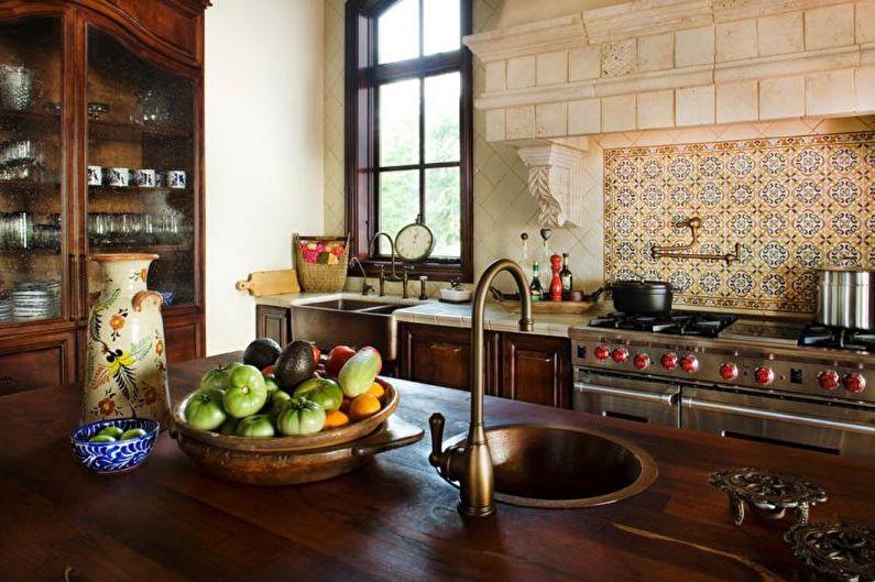 Дизайн интерьера кухни в средиземноморском стиле - фото