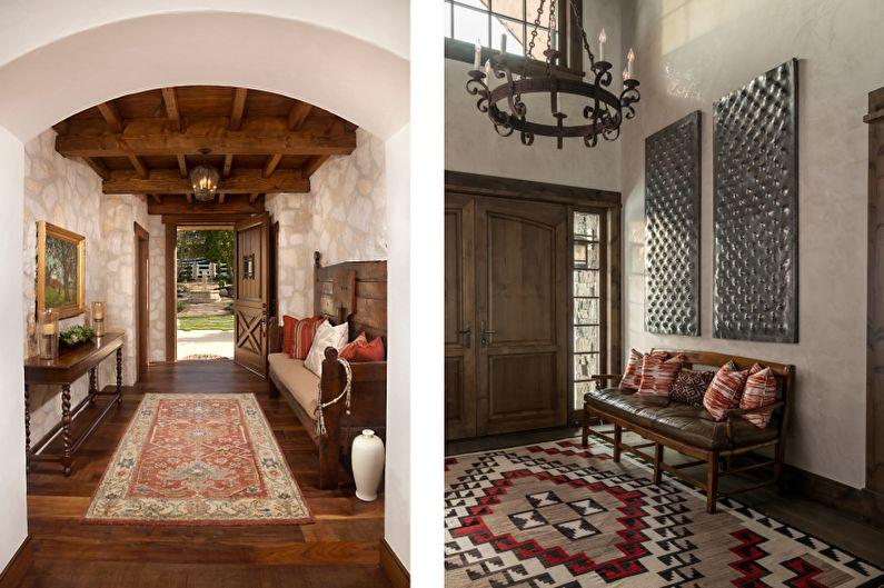 Дизайн интерьера прихожей в средиземноморском стиле - фото