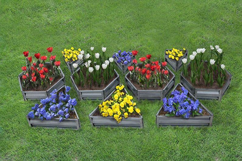 Фото красивых цветочных клумб на даче своими руками 77