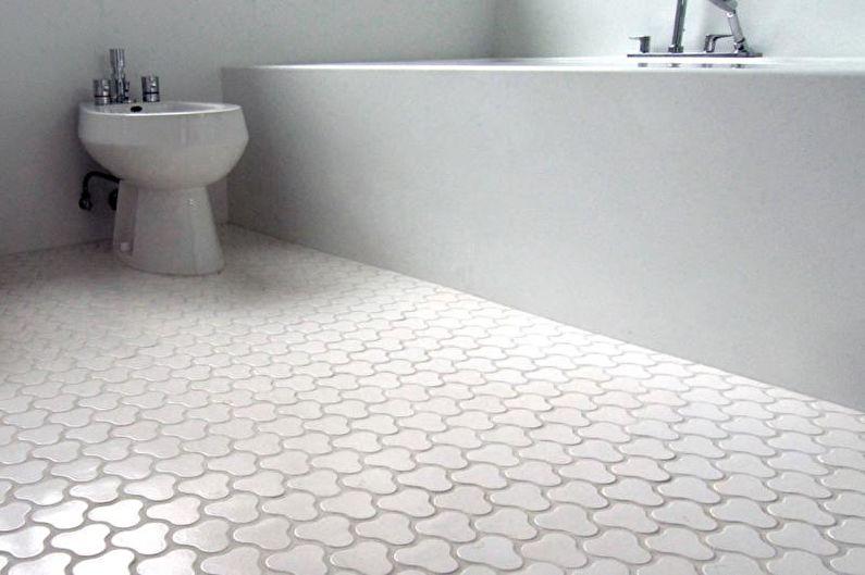 Дизайн белой ванной комнаты - Отделка пола