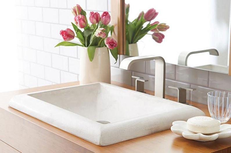 Дизайн белой ванной комнаты - Сантехника и мебель