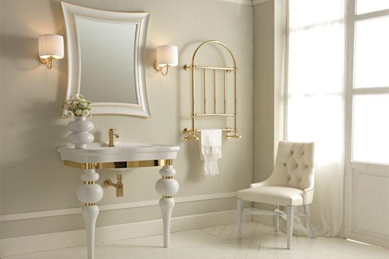 Дизайн белой ванной комнаты - Освещение