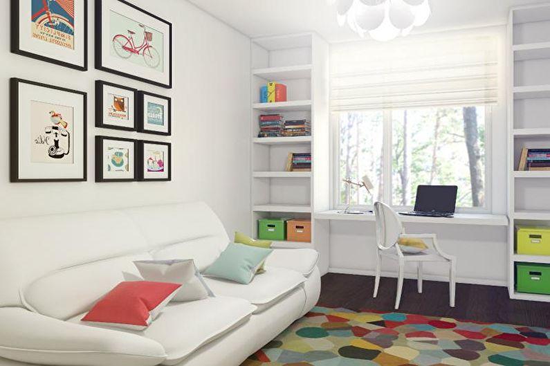 Дизайн комнаты для подростка - Нейтральная отделка
