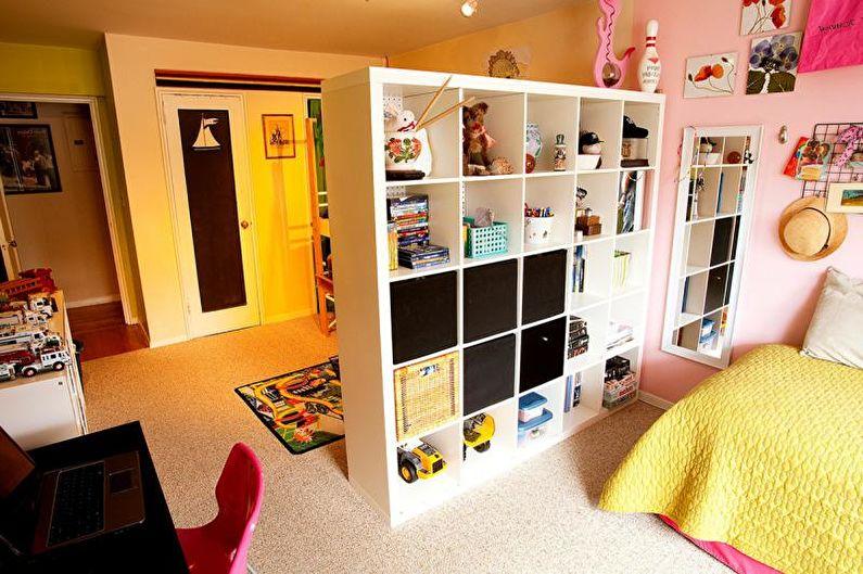 Зонирование комнаты для двоих детей - Дизайн комнаты для подростка